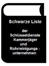Abflußreinigung Schwarze Liste